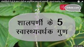 मांसपेशियों में दर्द के साथ 5 रोगों का आयुर्वेदिक इलाज करे शालपर्णी – Hindi Health Tips
